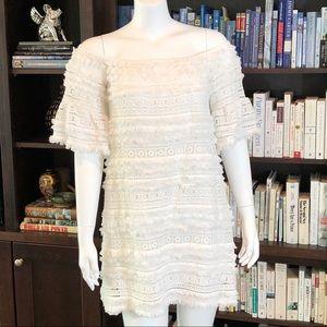 240edc6283d6 Alexis Dresses - Alexis Fringe   Lace Off-Shoulder Pablo Dress M